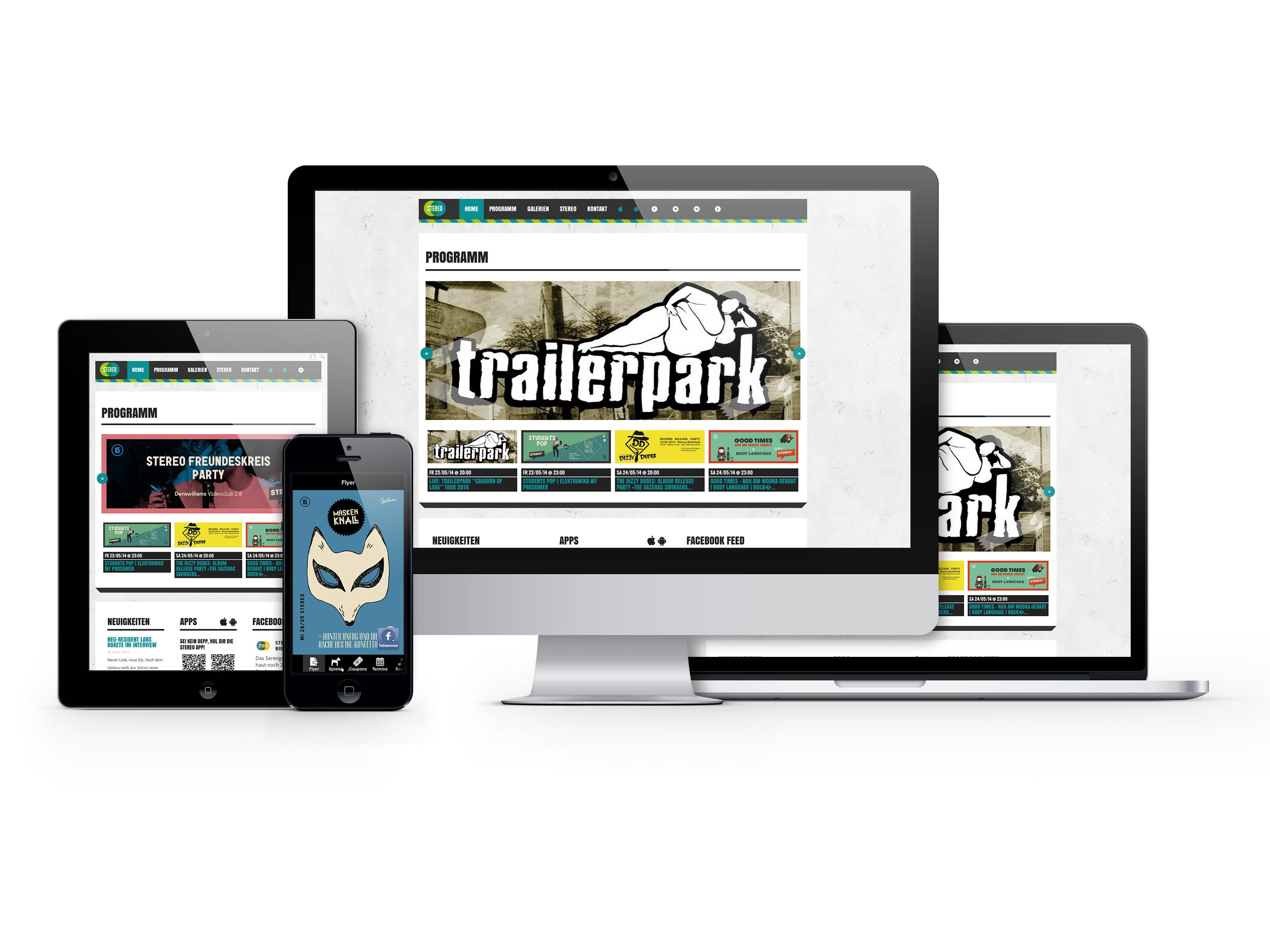 Stereo Website und App